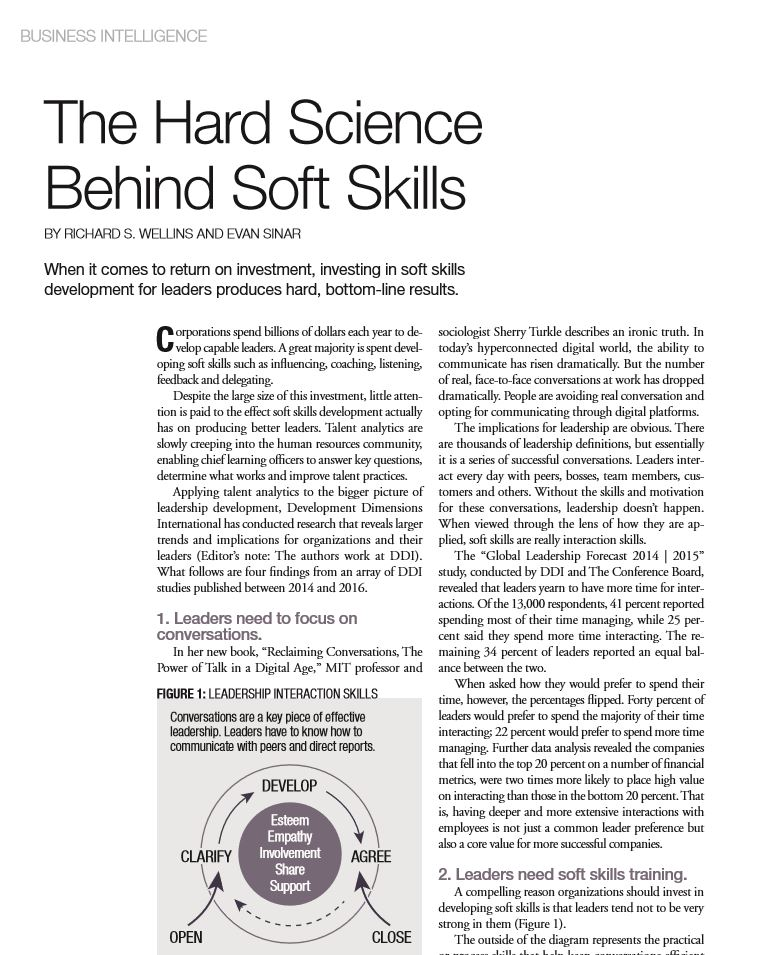 The Hard Science Behind Soft Skills
